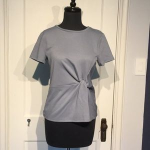 NWT🔹EXPRESS Blue-Grey Knotted Top